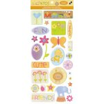 Die Cuts with a View - Nana's Kids Collection - Epoxy Stickers with Glitter Accents - Icons