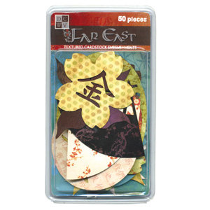 Die Cuts with a View - Far East - Textured Cardstock Embellishments