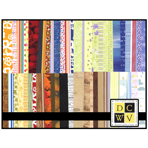 Die Cuts with a View - 12x12 Printed Paper Stack - 204 sheets