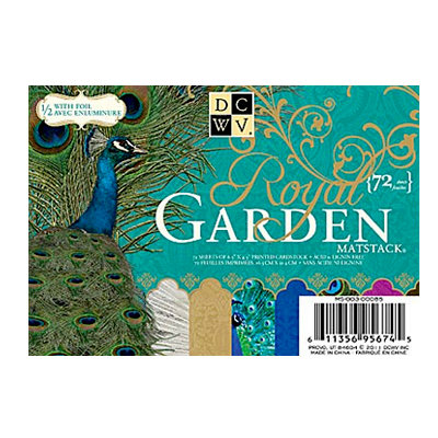 Die Cuts with a View - The Royal Garden Collection - 4.5 x 6.5 Foil Cardstock Matstack