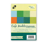 Die Cuts with a View - Cafe Mediterranean Collection - 4.5 x 6.5 Glitter and Metallic Solid Cardstock Matstack, CLEARANCE