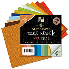 Die Cuts with a View - 6 x 6 Adhesive Matstack - Neutrals