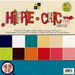 Die Cuts with a View - Hippie Chic Collection - Glitter Cardstock Stack - 12 x 12