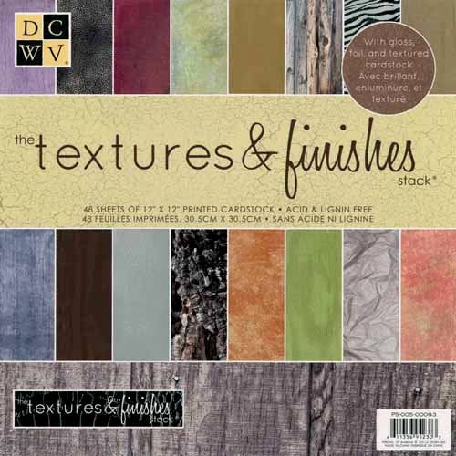 Die Cuts with a View - Textures and Finishes Collection - Gloss Foil and Textured Paper Stack - 12 x 12