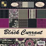 Die Cuts with a View - The Black Currant Collection - Foil Paper Stack - 12 x 12