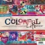 Die Cuts with a View - The Colorful Life Collection - Glitter and Foil Paper Stack - 12 x 12
