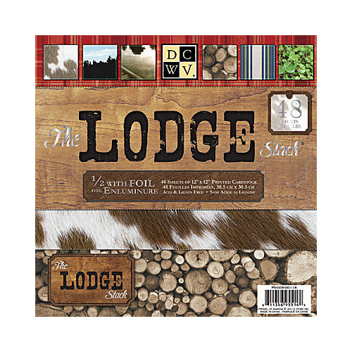 Die Cuts with a View - Lodge Collection - Foil Paper Stack - 12 x 12