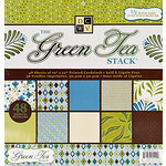 Die Cuts with a View - The Green Tea Collection - Foil Paper Stack - 12 x 12