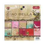 Die Cuts with a View - Ciao Bella Collection - Glitter Cardstock Stack - 12 x 12