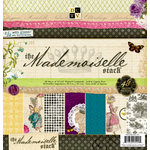 Die Cuts with a View - The Mademoiselle Collection - Glitter Paper Stack - 12 x 12