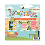 Die Cuts with a View - Playtime Collection - Glitter Kraft Stack - 12 x 12