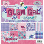 Die Cuts with a View - The Glam Gal Collection - Glitter Paper Stack - 12 x 12