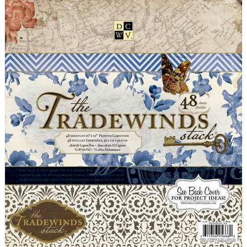 Die Cuts with a View - The Tradewinds Collection - Foil Paper Stack - 12 x 12