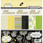 Die Cuts with a View - Lemon Flower Collection - Glitter Paper Stack - 12 x 12