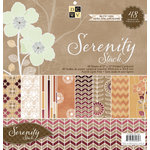 Die Cuts with a View - Serenity Collection - Foil Paper Stack - 12 x 12