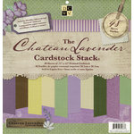 Die Cuts with a View - The Chateau Lavender Collection - Glitter Metallic and Textured Solid Cardstock Stack - 12 x 12