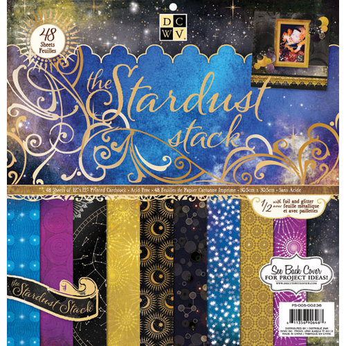 Die Cuts with a View - Stardust Collection - Foil and Glitter Paper Stack - 12 x 12