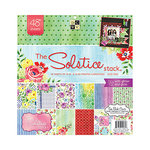 Die Cuts with a View - The Solstice Collection - Glitter and Gloss Paper Stack - 12 x 12
