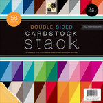 Die Cuts with a View - Cardstock Stack - White Core - 12 x 12 - Double Sided