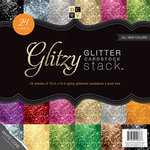 Die Cuts with a View - Glitter Cardstock Stack - White Core - 12 x 12 - Glitzy