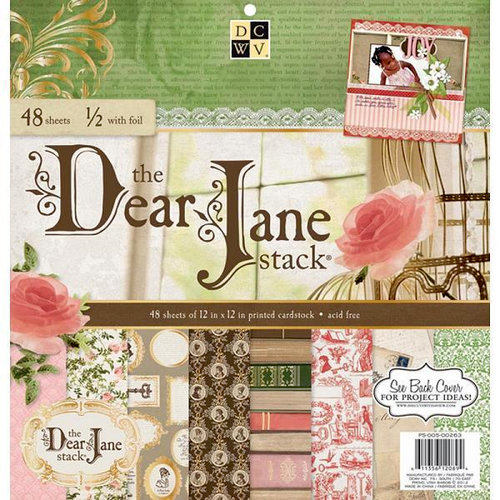 Die Cuts with a View - Dear Jane Collection - Foil Paper Stack - 12 x 12