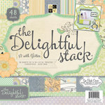Die Cuts with a View - Delightful Collection - Glitter Paper Stack - 12 x 12