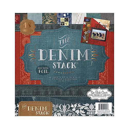 Die Cuts with a View - Denim Collection - Foil Paper Stack - 12 x 12