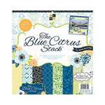 Die Cuts with a View - Blue Citrus Collection - Glitter Paper Stack - 12 x 12