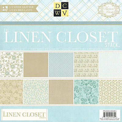 Die Cuts with a View - Linen Closet Collection - Glitter Paper Stack - 12 x 12