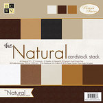 Die Cuts with a View - The Natural Collection - Glitter and Metallic Solid Cardstock Stack - 12 x 12