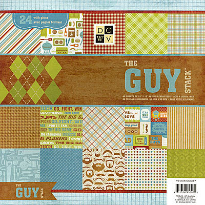 Die Cuts with a View - The Guy Collection - Gloss Paper Stack - 12 x 12, CLEARANCE