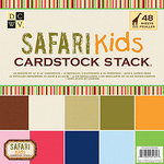 Die Cuts with a View - Safari Kids Collection - Glitter and Metallic Solid Cardstock Stack - 12 x 12