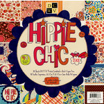 Die Cuts with a View - Hippie Chic Collection - Glitter Paper Stack - 8 x 8, CLEARANCE