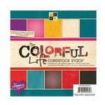 Die Cuts with a View - The Colorful Life Collection - Metallic Glitter and Textured Cardstock Pack - 8 x 8