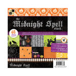 Die Cuts with a View - The Midnight Spell Collection - Halloween - Foil and Glitter Paper Stack - 8 x 8