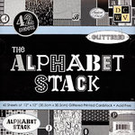 Die Cuts With A View - 12 x 12 Alphabet Paper Stack, CLEARANCE