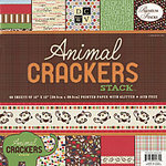 Die Cuts with a View - Animal Crackers Collection - Glitter Paper Stack - 12 x 12, CLEARANCE