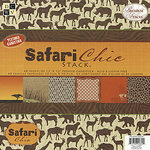 Die Cuts with a View - Safari Chic Collection - Textured Paper Stack - 12 X 12