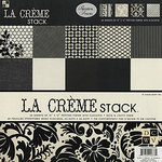Die Cuts with a View - Le Creme Collection - Flocked Paper Stack - 12 X 12