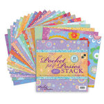 Die Cuts with a View - The Pocket full of Posies Stack with Sparkles - 12x12 Paper Stack