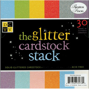 Die Cuts With A View - Glitter Cardstock Stack - 12x12