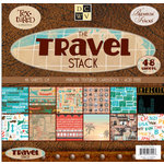 Die Cuts With A View - Travel Collection - Cardstock Stack - 8x8, CLEARANCE
