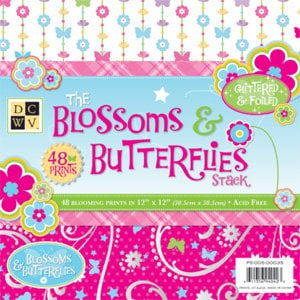 Die Cuts with a View - Blossoms and Butterflies Collection - 12x12 Paper Stack