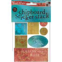 Die Cuts with a View - Far East - Chipboard Sticker Stack, CLEARANCE