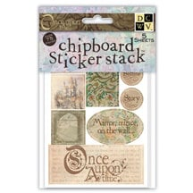 Die Cuts with a View - Once Upon a Time - Chipboard Sticker Stack
