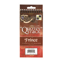 Die Cuts with a View - Once Upon A Time Collection - Vellum Quote Stack - Prince, CLEARANCE