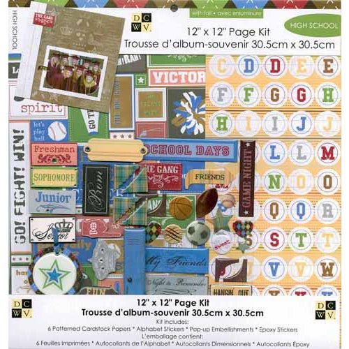 Die Cuts with a View - 12 x 12 Page Kit - High School