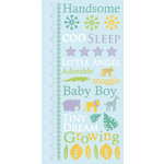 Die Cuts with a View - Nana's Nursery Collection - Glitter Rub Ons - Baby Boy, CLEARANCE