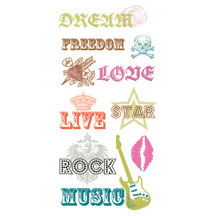 Die Cuts with a View - Rock Star Collection - Rub Ons - Freedom