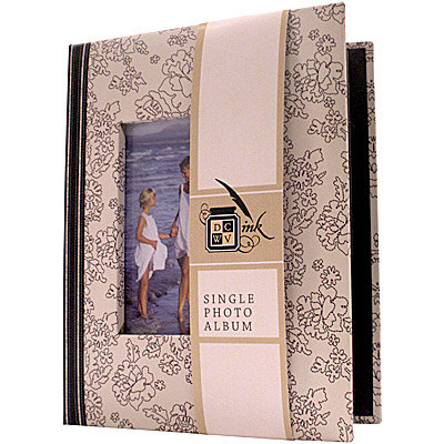 Die Cuts with a View - Black and Cream Collection - Single Photo Album - 24 4 x 6 Inch Photo Pockets